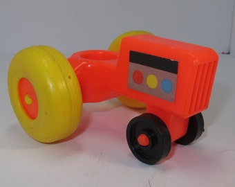 vintage fisher price little people tractor