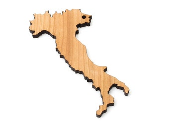 Italy Outline Ornament - Timber Green Woods Country Cutout Collection