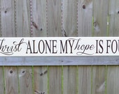 In Christ Alone My Hope Is Found, Bible Verse Print - In Christ Alone My Hope Is Found - Spritual Motivation - Bible Verse