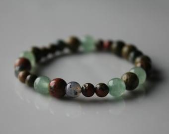 Pregnancy Bracelet, Pregnancy Crystals, Healthy pregnancy, Aventurine Bracelet, Green Moss Bracelet, Green pregnancy bracelet