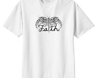 Faith Butterfly New T Shirt S M L XL 2X 3X 4X 5X, Tattoo Art