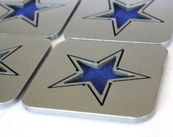 Stars Steel Coaster Set of 4