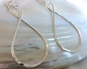 Fine Silver Infinity Earrings - Large