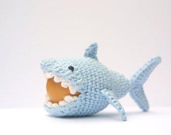 Crochet Shark Egg Cozy, PDF Pattern, Instant Download, Crochet Instructions,