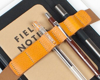 XL ipad Leather Journal Pen band holder / pencil case pen holder / School item / Simple Minimalist pencil case