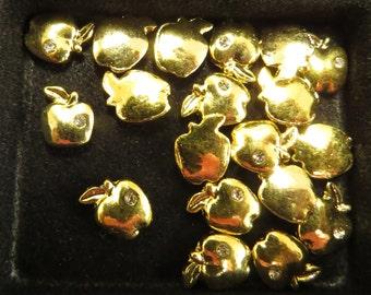 Golden Apple Floating Charm