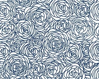 Removable Wallpaper - Blossom Print Navy