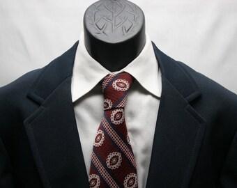 Vintage Navy Blue Blazer / Retro Men's Jacket / Size 42 Slim Fit