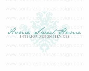 OOAK Premade Logo Design - Damask Detail - Perfect for an interior designer or a vintage finds shop