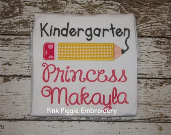Kindergarten Princess Personalized Shirt