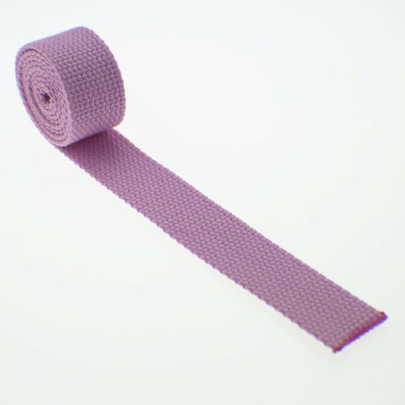 "1 Yard Cotton Webbing Light Pink - 1 Inch (1"") Heavy Duty - Key Fobs, Purse Straps, Belts - Choose Your Color"