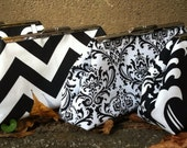 Black and White Bridesmaid Clutch
