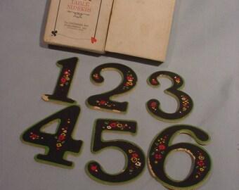 Set of 6 Table Numbers Cincinnati Art Co. Card Playing Ornate in Original Box