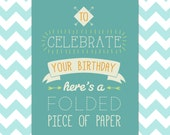 Emergency birthday card to print at home! 4 colour combinations included!