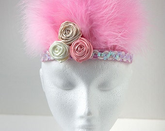 Feather Headdress in Pink - FESTIVALS / PARTIES