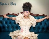Antique Steampunk Wedding Burlesque Bustle   Victorian Decadence Gothic  Lolita By Ophelias Folly