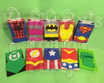 10 Super Hero Party Bags