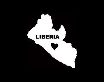 Liberia States Window Decal