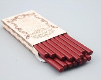 16 Pieces High Quality Sealing Wax Sticks - Wax - Sealing Wax Seal - Seal Stamp - Dark Red