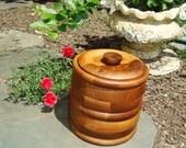 Kustom Kraft Black Walnut Ice Bucket with Tongs - Excellent Condition [F]