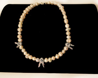 Pearl Rabbits Necklace