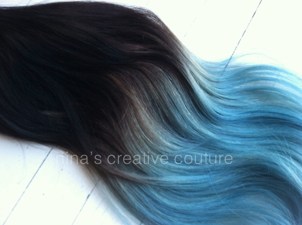 Electric Blue Hair Dip Dye Blue Dip Dye Hair