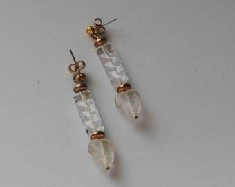 Swirly leaves earrings