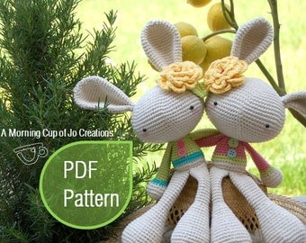 Amigurumi Crochet PDF Pattern - Spring Bunny (Instant Download)