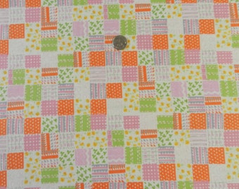 FQ OOP Heather Ross Nursery Versary Plaid  Orange and Green VHTF