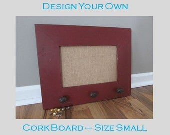 design your own cork board size small message board