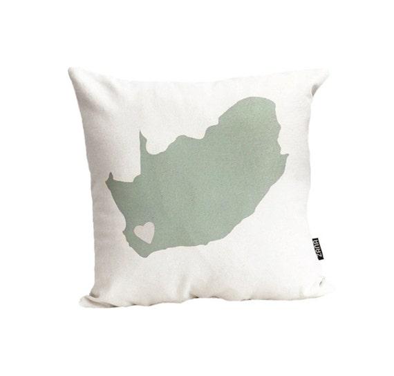 Mint South Africa Love 16x16 inch Pillow Cover, Throw Cushion, Urban, Modern, Beige, Off-White, Earthy