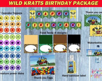 Wild Kratts Birthday Pack  - wild kratts party