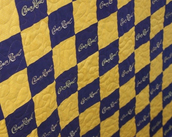 Custom Made to Order Crown Royal Quilt Blanket (You pick the size and pattern) Father's Day, Graduation, Wedding, Christmas Etsy Dudes CIJ