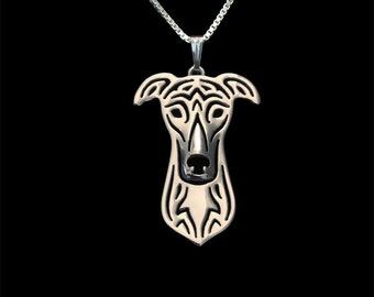 Greyhound jewelry - sterling silver pendant and necklace