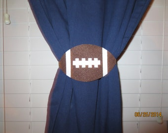 Football Curtain Tie-backs (Set of 2)