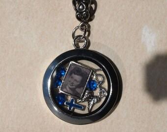 Glass Floating Locket with Custom Charm