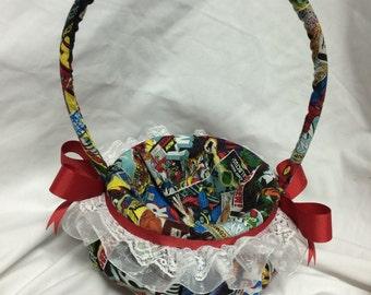 Vintage comic book Flower Girl Basket