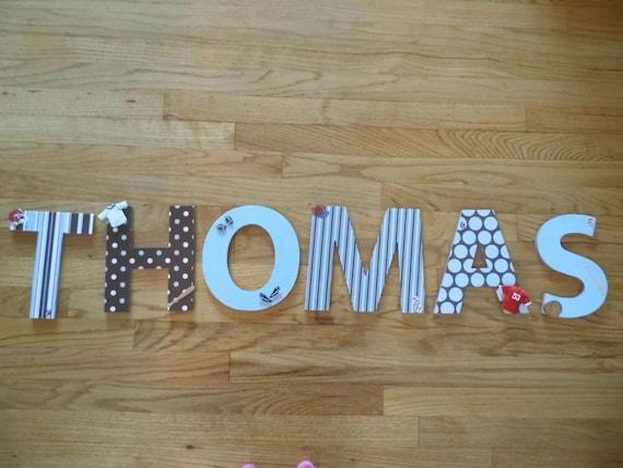 Custom Nursery Letters Baby Girl Nursery Decor Personalized