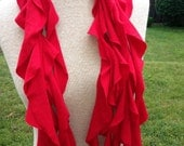 womans jersey recycled t shirt scarf