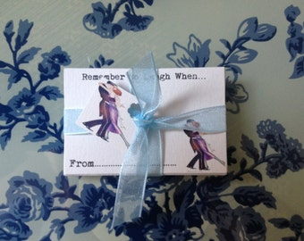 """Wedding Wishing Well Cards Guest Book Alternative - 100 Guest Cards """"Great Gatsby"""" Tied with Ribbon"""