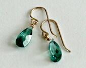 Emerald Drop Earrings - C...