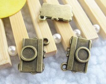 20pcs 13x19mm Antique Bronze Lovely Mini Camera Charm Pendant. Jewelry Supplies A1186-12A