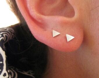 Tiny Triangle Stud / Post Earrings