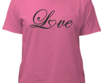 Love Shirt - Love Heart Tee Shirt - Valentine's Day Shirt