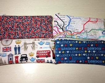 London makeup/pencil case or coin purse