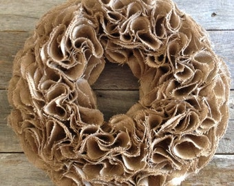 Shabby Chic Burlap Wreath,Burlap Wreath,Rustic Wreath,25x25,Tan Wreath,Year Round Wreath Chalkboard,bunting,
