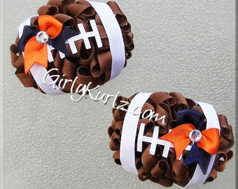 Football Hair Bow, Football Bow, Football Hair Clip, Sports Hair Bow, Sports Hair Clip