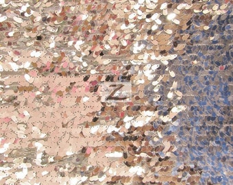 """Drop Sequin Fabric - SILVER - Sold By The Yard 50"""" Width"""