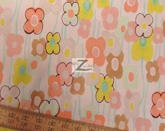 """100% Cotton Fabric By Alexander Henry - Floral Vivienne Daisy - Sold By The Yard  - 45"""" Width (FH-813)"""