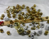 Mixed Lot of Bells - White, Gold and Silver Tone  - More than 80 Various Bells